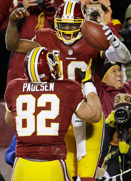 In a rookie season full of record-breaking moments, Robert Griffin III may have celebrated most after helping the Redskins defeat the Dallas Cowboys in the last game of the entire NFL regular season to win the NFC East and qualify for the playoffs.