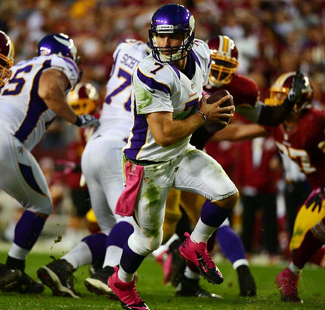 Trust Christian Ponder. The second-year quarterback is coming off his best game as a pro.