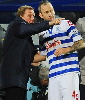 Harry Redknapp, Shaun Derry and Queens Park Rangers next face Chelsea on Wednesday.