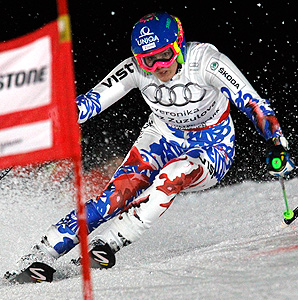 Slovakia's Veronika Velez Zuzulova upset World Cup leader Tina Maze in the women's parallel slalom race.