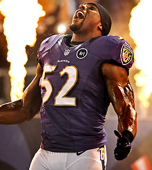 Ray Lewis has made 13 Pro Bowls in 17 NFL seasons.