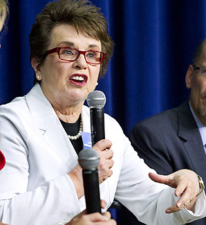 Billie Jean King won 12 Grand Slam singles titles in her career.