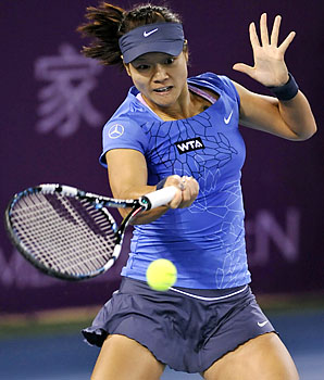 Li Na beat Bojana Jovanovski 6-3, 6-3 and will face Peng Shuai in the semifinals.