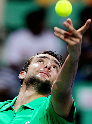 Marin Cilic got past Sergiy Stakhovsky in three sets.