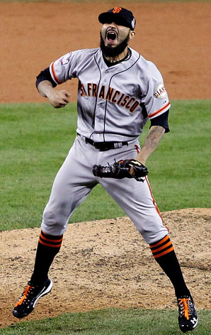 Sergio Romo closed out the Giants' World Series victory over the Tigers back in October.
