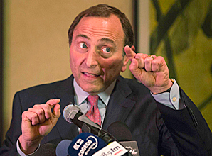 """""""As long as the process continues I am hopeful,"""" said Commissioner Gary Bettman of possibly having a shortened NHL season."""