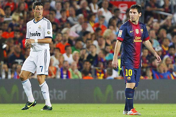 Cristiano Ronaldo (left) and Lionel Messi are thought to be the two favorites to win the Ballon d'Or.