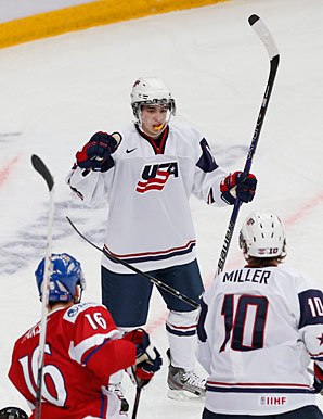 Johnny Gaudreau's scoring outburst has helped soothe one of Team USA's main worries.