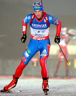 Dmitry Malyshko came from behind Norway's Emil Hegle Svendsen to secure the victory for Russia.