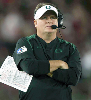 Chip Kelly led Oregon to a 46-7 record during his four years as head coach.