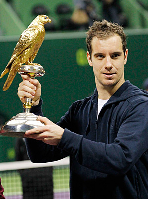 Richard Gasquet took home the Qatar crown for his eighth career title.