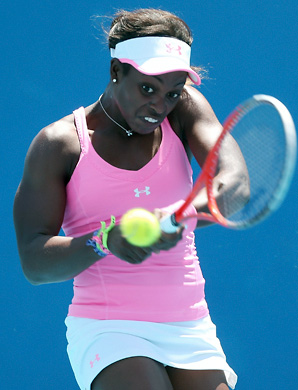 Sloane Stephens broke Laura Robson in the first game of the match then held serve to take the first set in 45 minutes.
