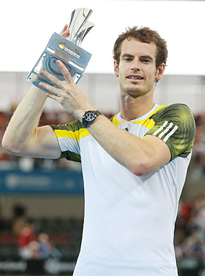 Andy Murray defended his title at Brisbane.