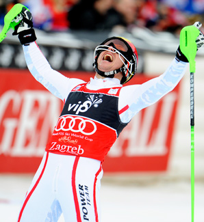 Marcel Hirscher won his third event of the season.