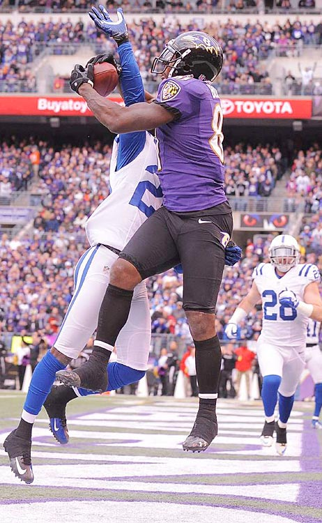 Anquan Boldin made an incredibly difficult catch on this play to give the Ravens their final points.