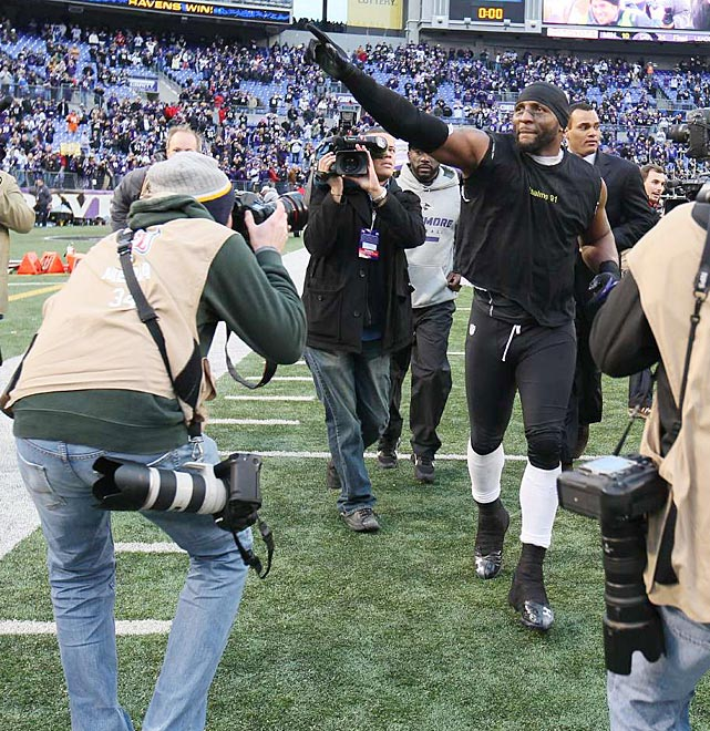 Ray Lewis, who announced that he'll retire at season's end, left the field with a win in his last home game.