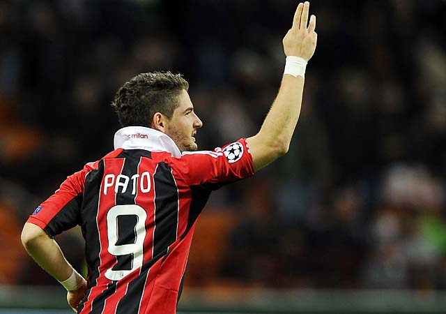 Alexandre Pato, who left AC Milan for Corinthians, is dating the daughter of AC Milan's president.