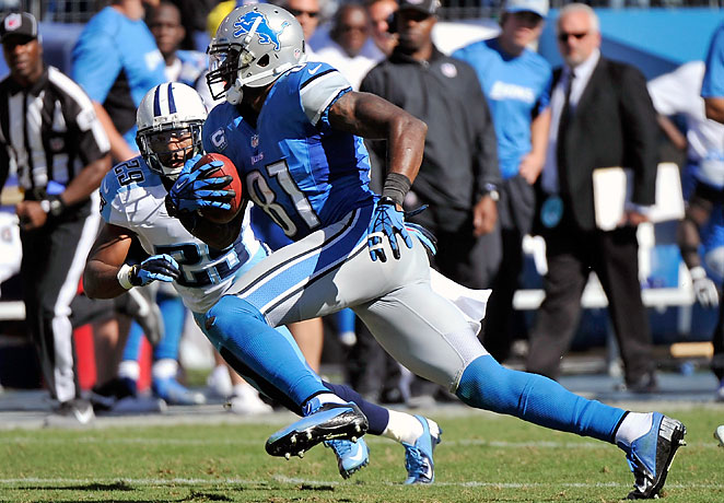 Calvin Johnson pleased many fantasy owners with 164 yards receiving and a touchdown vs. the Titans.