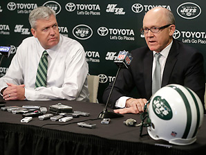 Rex Ryan said the Jets were moving on from both offensive coordinator Tony Sparano and defensive coordinator Mike Pettine.