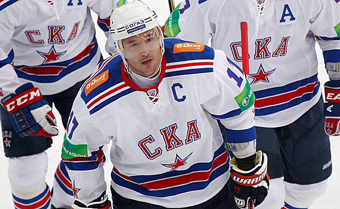 With rumors flying, Ilya Kovalchuk said he was staying in the KHL until the NHL lockout is legally over.