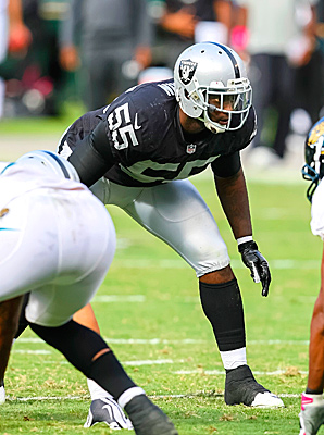 Rolando McClain totalled 37 tackles and 1 sack in 11 games with Oakland this season.