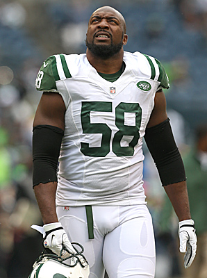 Thomas finished 2012 with 18 tackles in 12 games played for the Jets.