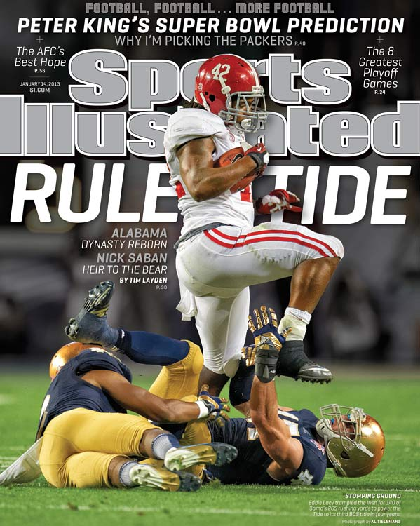 Alabama turned what was supposed to be a defensive showdown into an offensive beatdown, and by the second half the only competition remaining was between the school's old coach and its current one. Tim Layden writes about the dominance that Alabama displayed and the continuing ascendance of a living legend in Nick Saban. <italics>(Check out SI's </italics><italics>web version of the magazine.)</italics>
