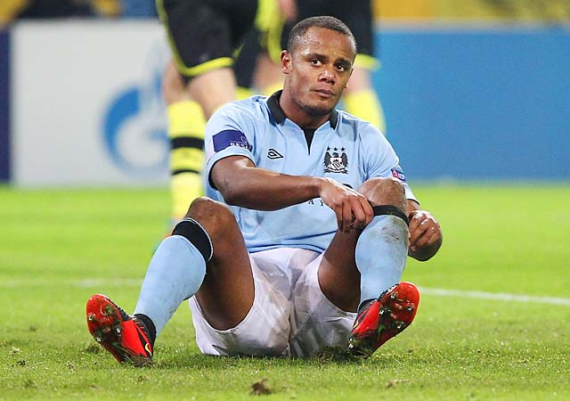 Vincent Kompany and Manchester City are in second place in the Premier League.
