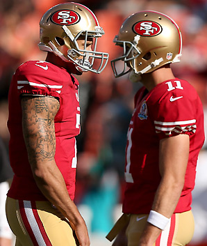 The 49ers were 20-6-1 with Alex Smith as the starter over the last two seasons, and are 5-2 since going to Colin Kaepernick.
