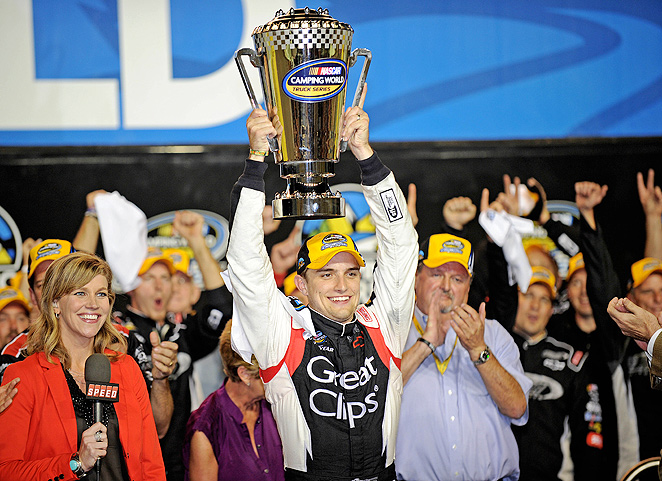 James Buescher claimed the Camping World Truck Series championship in 2012, and plans to defend that title in 2013.