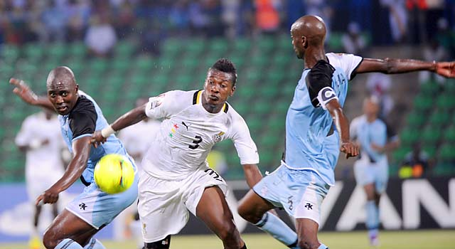 Asamoah Gyan and Ghana lost in the semifinals of the 2012 African Cup of Nations.