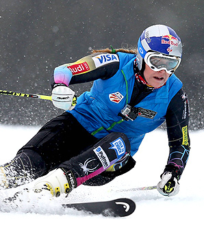 Lindsey Vonn took more than three weeks off to recover from an intestinal illness.