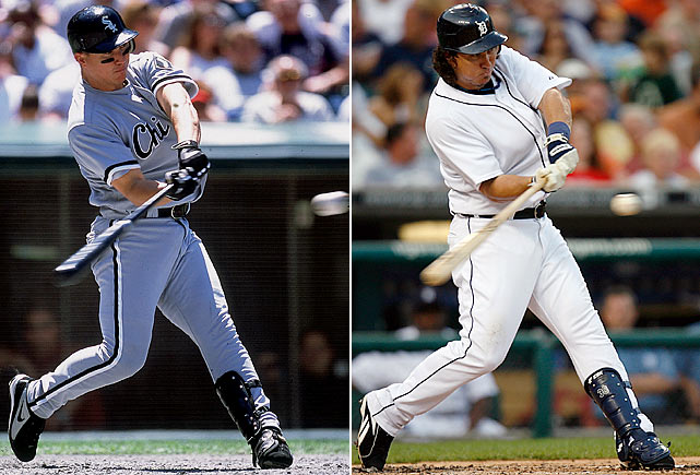 A career .309 hitter with 426 doubles and an .871 OPS, Magglio Ordonez was an intimidating hitter during his 15-year career, leading the league in doubles in 2007 with 54. Jose Canseco claimed to have injected Ordonez with steroids in 2001.