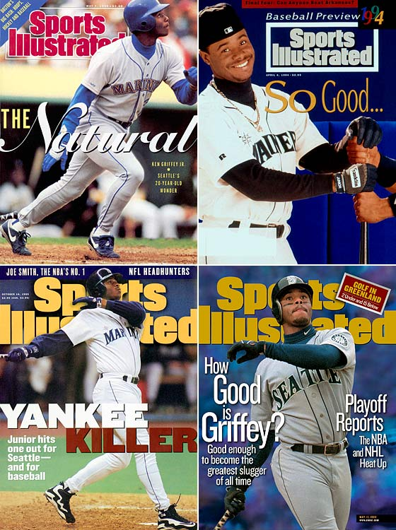Before Barry Bonds chased the record, it was Ken Griffey Jr. that many hoped would surpass Hank Aaron as the home run king. Griffey led the American League in home runs four times, including back-to-back seasons with 56 homers in 1997 and 1998. A bad run of injuries limited his play and his numbers during the second half of his career.