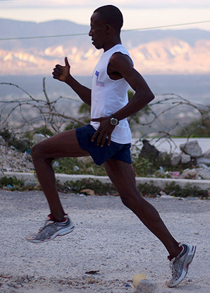 Astrel Clovis ran his debut marathon in two hours and 42 minutes.