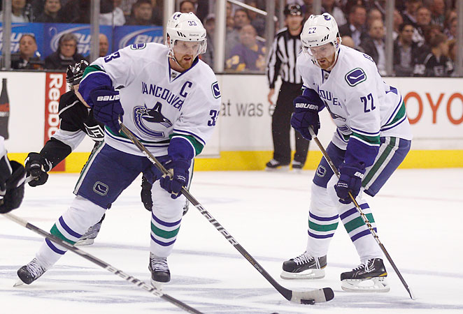 Twins Henrik (left) and Daniel Sedin anchor an offense that could win the Canucks a Stanley Cup.