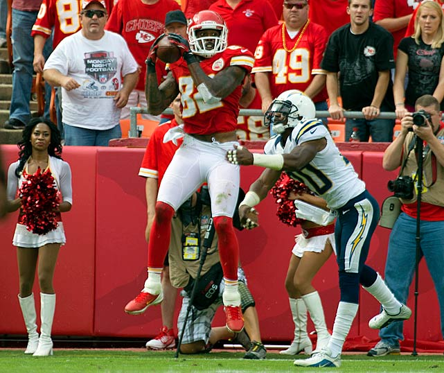The Chiefs may have had an awful season, but wide receiver Dwayne Bowe did not. Despite missing the final three games because of an injury, Bowe still caught for more than 800 receiving yards.