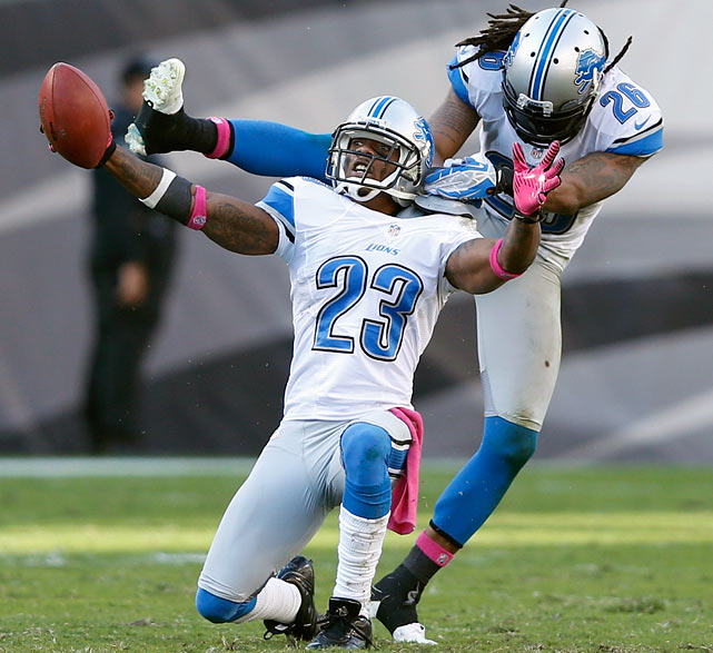 The Detroit Lions cornerback may not have repeated the highlight reel interceptions returns of his 2011 season, but four total forced turnovers this season should still make Chris Houston a top commodity.