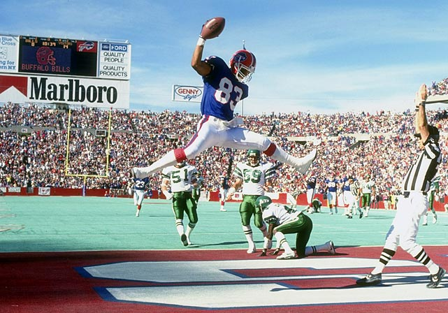 Andre Reed's career provides a strong definition of longevity and consistency. The wide receiver played in 234 games in his 16-year career, missing more than four games in a season just once. Reed is 10th all-time in receptions (951) and 12th in receiving yards (13,198) and receiving touchdowns (87). He also rushed for 500 yards. Reed made seven Pro Bowls, all with the Buffalo Bills, with whom he spent all but one year of his career.