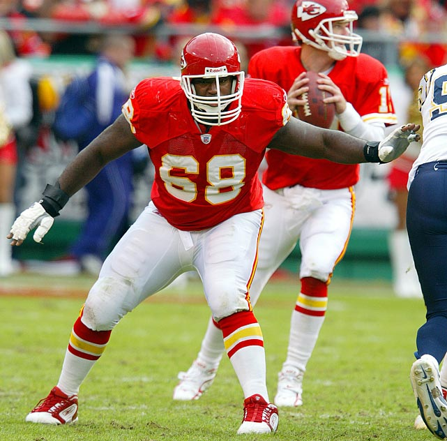 Will Shields entered the Kansas City Chiefs' starting lineup on Sept. 12, 1993, and didn't leave it until retirement, starting 231 consecutive games in his 14-year career. The guard made 12 straight Pro Bowls, beginning with his third season, and blocked for a 1,000-yard rusher five times.