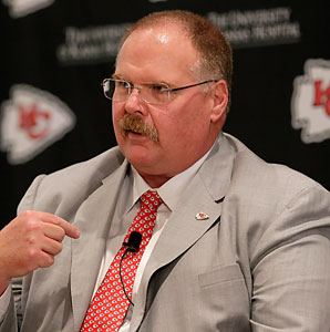 Andy Reid was unemployed for less than a week before he was hired to become the head coach of the Chiefs.