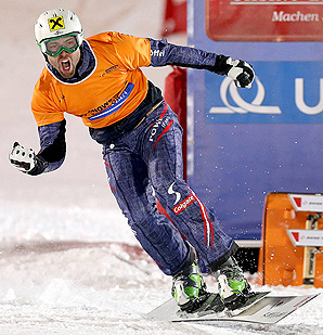 Andreas Prommegger's victory in the parallel slalom event was his tenth World Cup win.