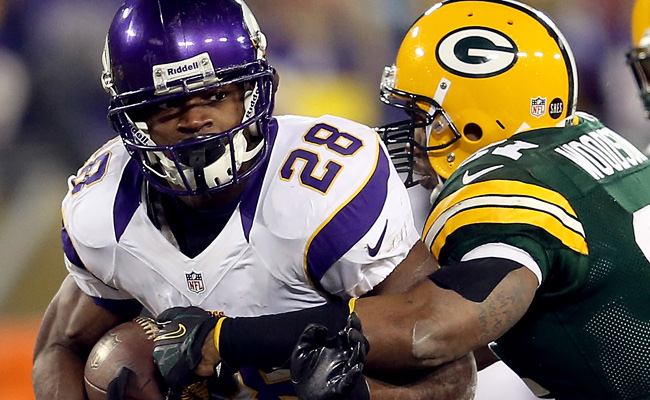 Adrian Peterson came within 9 yards of breaking Eric Dickerson's single-season rushing record.