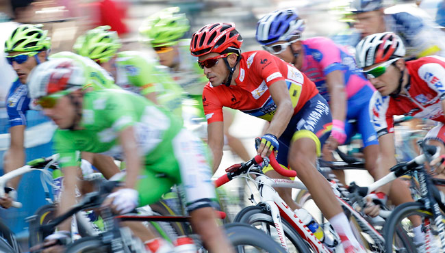 Alberto Contador won his second Spanish Vuelta title in 2012, one month after his doping ban ended.