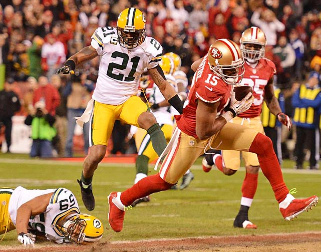Michael Crabtree led all receivers with nine catches, 119 yards and two touchdowns.