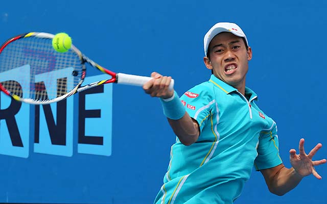 No. 16 Kei Nishikori will play Carlos Berlocq in the second round.