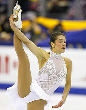 Alissa Czisny dislocated her left hip after having surgery on it last June to repair a tear.