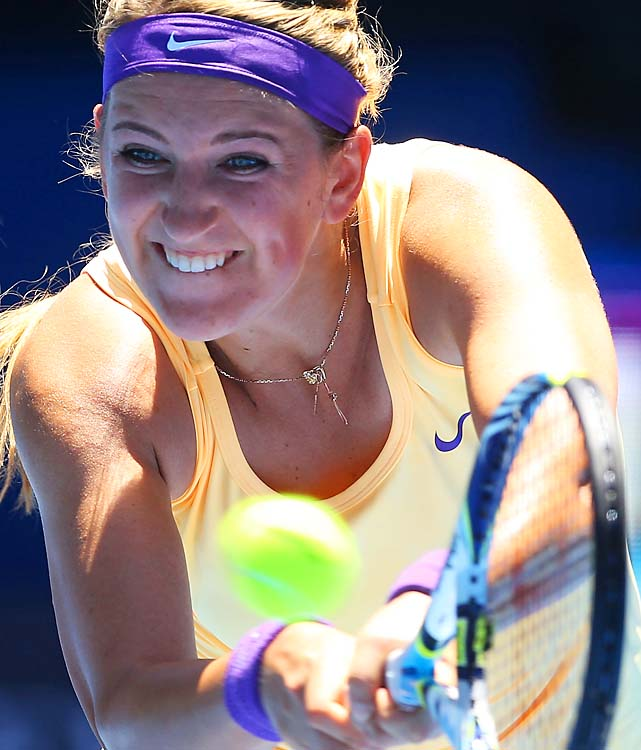 No. 1 Victoria Azarenka beat Monica Niculescu 6-1, 6-4 and could get Wozniacki in the fourth round.