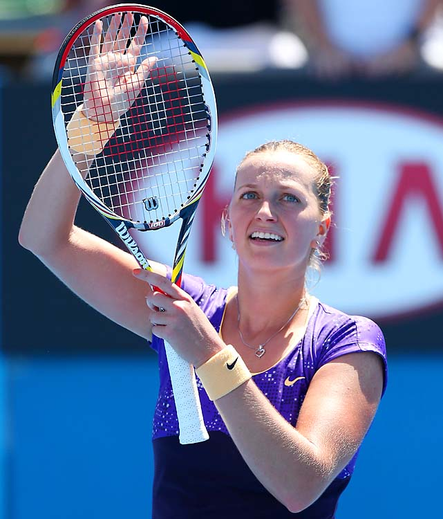 No. 8 Petra Kvitova beat Francesca Schiavone 6-4, 2-6, 6-2 and gets Laura Robson next.