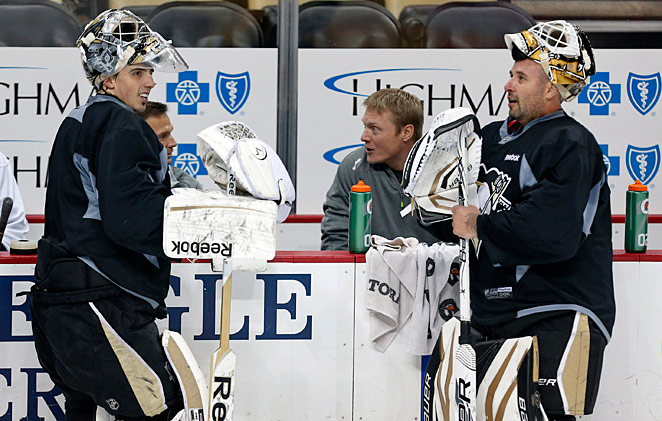 The acquisition of Tomas Vokoun (right) will give Marc-Andre Fleury a reliable veteran backup.